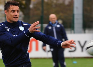 Dan Carter training with Racing 92 (Getty Images)