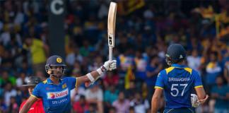 Thisara cameo, Mendis, Chandimal 50s push Sri Lanka to 227