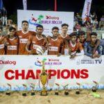 Hambantota Hornets wins Dialog Beach Soccer Championship 2021