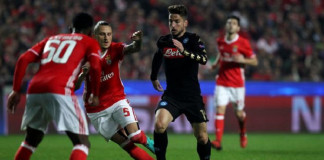 Napoli beat Benfica in Champions League