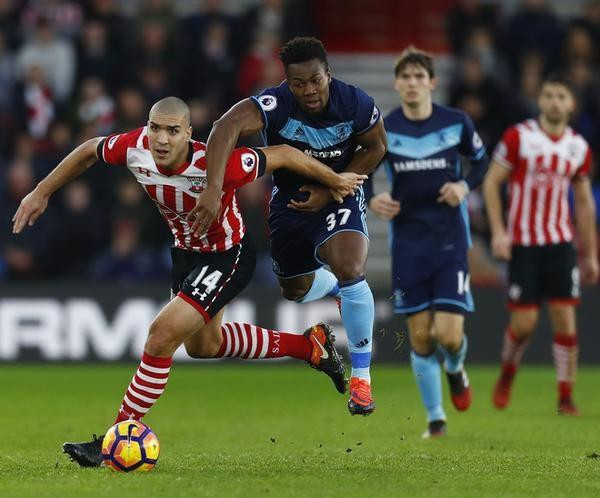 Boufal bullet fires Southampton to home win over Middlesbrough