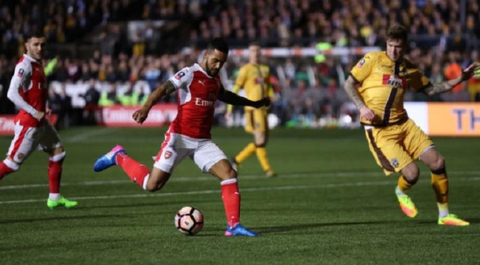 Arsenal's Theo Walcott in action