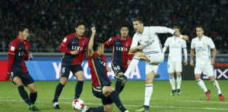 Real Madrid's Cristiano Ronaldo shoots at goal