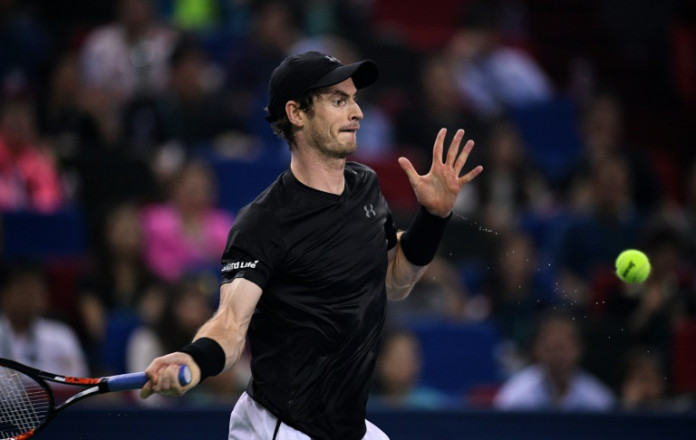 © AFP/File | Andy Murray of Britain is closing in on Novak Djokovic's top ranking, after taking his season record to 66 wins and just nine losses
