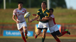 Handre Polard – Springboks rugby player in action in the Commonwealth youth games few years ago