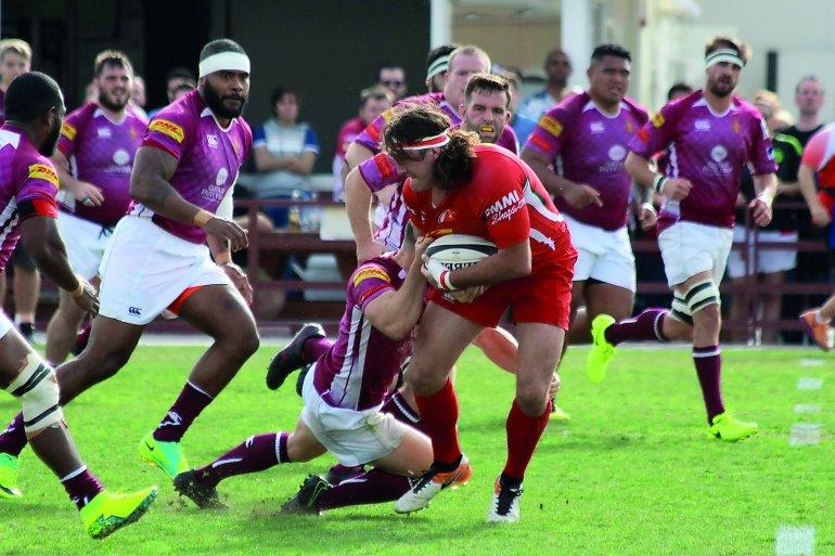 Action from last year's premiership where Doha RFC were runners up and was the only team to defeat the winners, the Abu Dhabi Harlequins