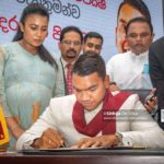Cabinet Minister Namal Rajapakse assumes duties as minister of sports