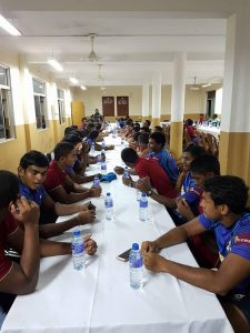 Zahira hosting S. Thomas' College at a post-match dinner