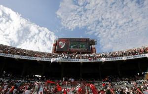 River Plate fans chanting in jubilation at El Monumental (Image courtesy – AFP)