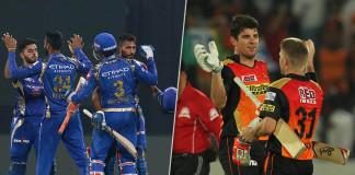 IPL 2017 Mumbai Indians and Sunrisers wins