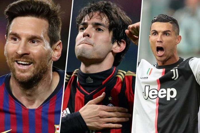 Kaka selects Messi ahead of Ronaldo