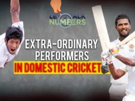 Extra-Ordinary Performers in Domestic Cricket