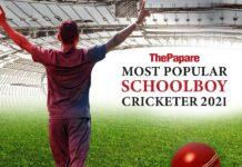 ThePapare Most Popular Schoolboy Cricketer 2021