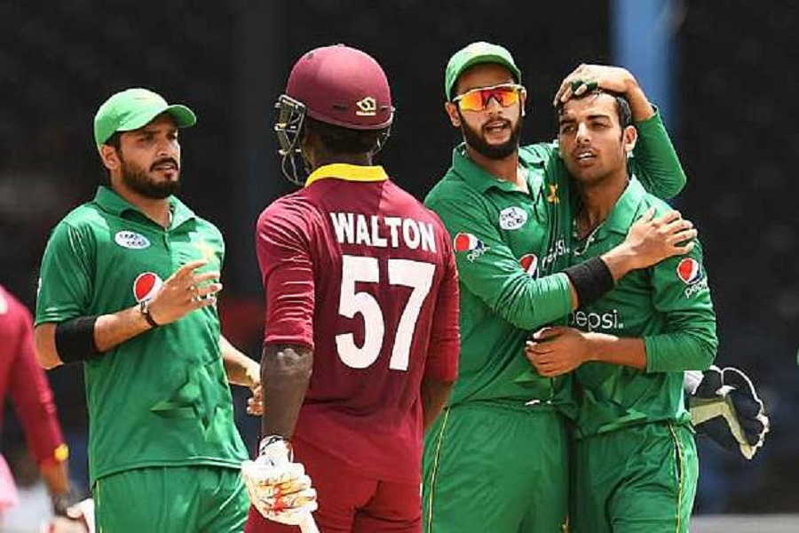 Riding on ten wickets from the four-match T20I series against West Indies, Shadab Khan earned his maiden Test call-up. © AFP