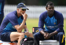 Graham Ford with Angelo Mathews, during happier times © Getty