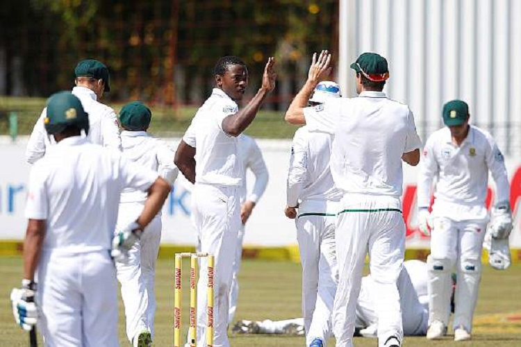 Rabada, Maharaj expedite South Africa's 333-run victory