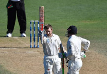Kane Williamson hit an unbeaten 104 to help New Zealand over the line