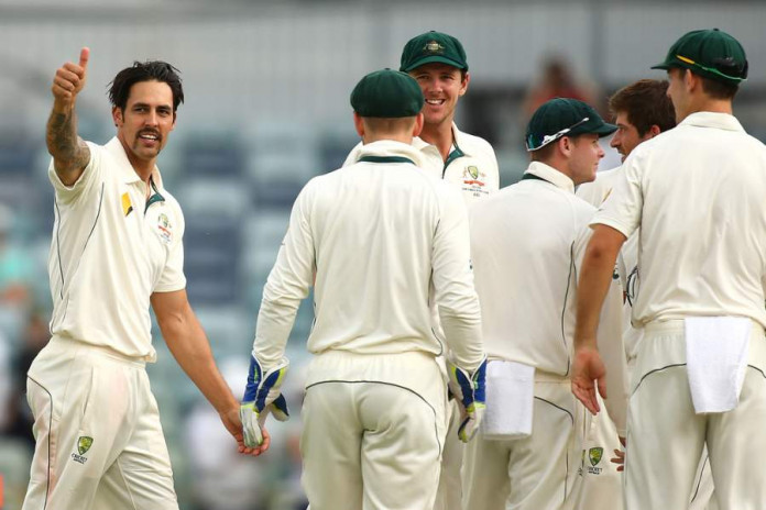 For one last time at the WACA on Tuesday, Mitchell Johnson made the ball talk like he always does © Getty
