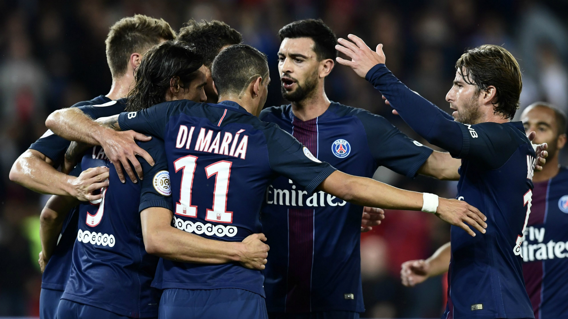 Cavani and Di Maria on target as PSG take Ligue 1 lead