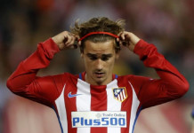 Football Soccer - Atletico Madrid v Leicester City - UEFA Champions League Quarter Final First Leg - Vicente Calderon Stadium, Madrid, Spain - 12/4/17 Atletico Madrid's Antoine Griezmann Action Images via Reuters / Carl Recine Livepic
