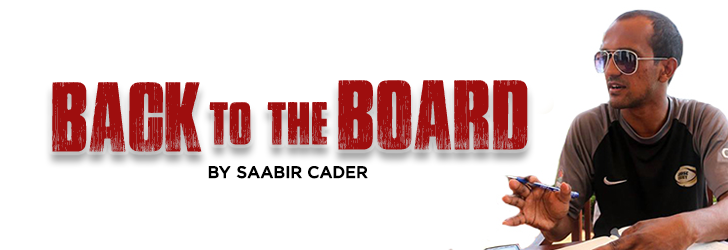 back to the board by saabir cader