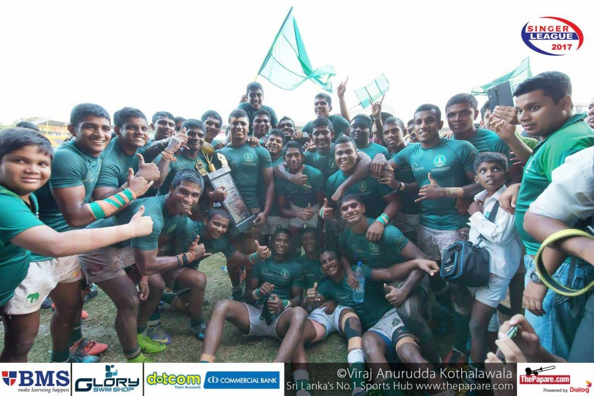 First taste of success. Isipathana College won the Major Milroy Fernando trophy under Lasintha's helm