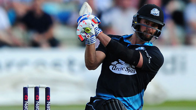 NatWest T20 Blast: Ross Whiteley hits six sixes in over for