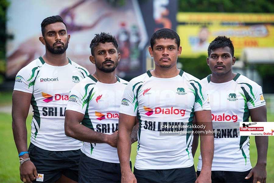 Sri Lanka Rugby's Kevin Dixon, Danushka Ranjan, Sudarshana Muthuthanthri and Srinath Sooriyabandara