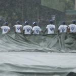 Stadium labourers stripped
