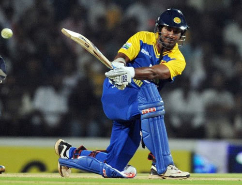 Sanga equaled the fastest half century by a Sri Lankan (Image courtesy – AFP)