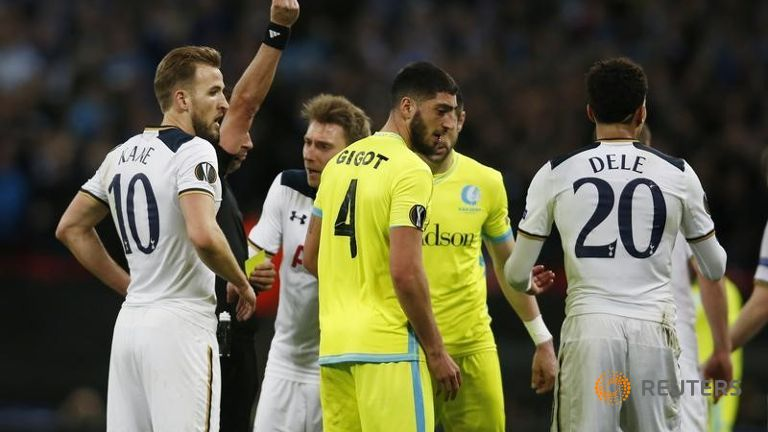 Tottenham Spurs exit Europa League, Lyon in seventh heaven