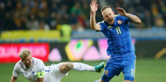 Ukraine up to second spot with 1-0 win over Finland