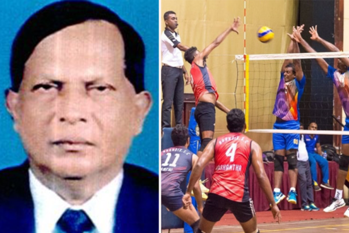 Wimal Amarasinghe President and Kapila Bannahaka Secretary in Sri Lanka Volleyball Referees Association 2020