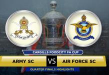 Army SC v Air Force SC - FA Cup 2016 QF 3