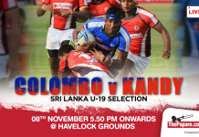 Kandy Schools Combined XV vs Colombo Schools Combined XV encounter
